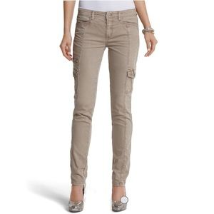 WHBM - The Mod (Slim) Blanc Latte Cargo Jean